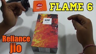 LYF Flame 6 Unboxing with JIO 4G SIM Card  Speed Test !