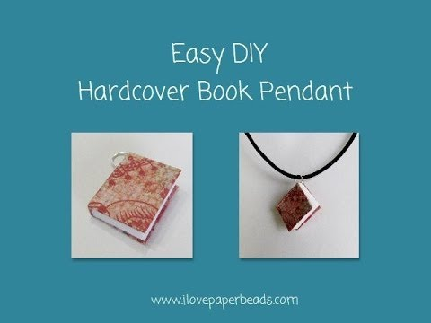 How to make a Hardcover Book Necklace Pendant