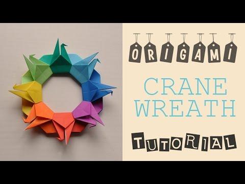 Origami Crane Wreath Tutorial