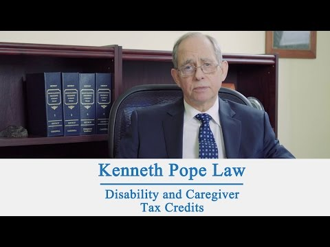 Disability and Caregiver Tax Credits