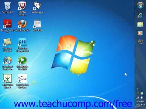 Windows 7 Tutorial Moving & Resizing the Windows Taskbar Microsoft Training Lesson 3.1