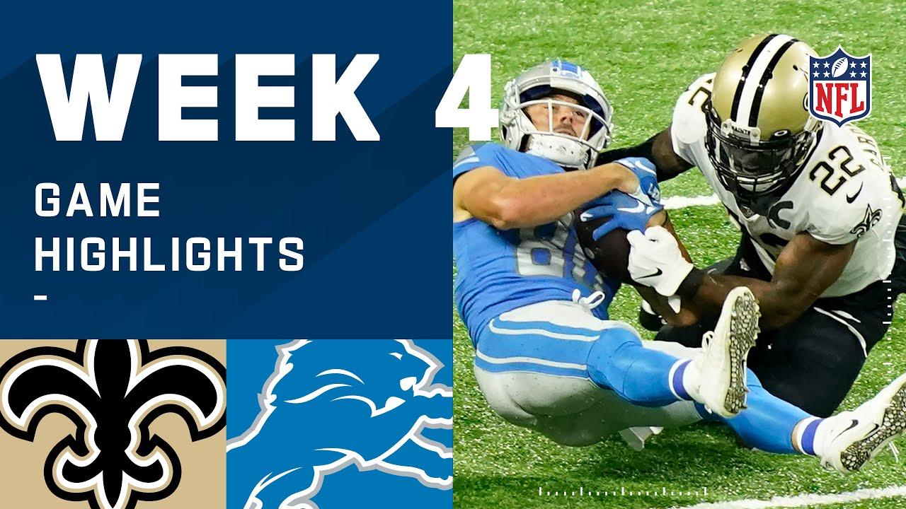 Saints vs. Lions Week 4 Highlights | NFL 2020