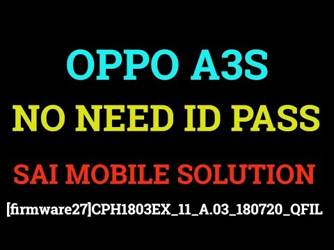OPPO A3S QFIL FIRMWEARCPH1803 QFIL FLASH FILEA3S FREE