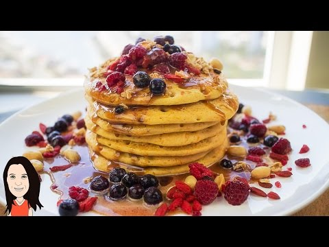 Gluten Free Pumpkin Pancakes with Peanut Maple Sauce - Vegan Recipe | iHerb