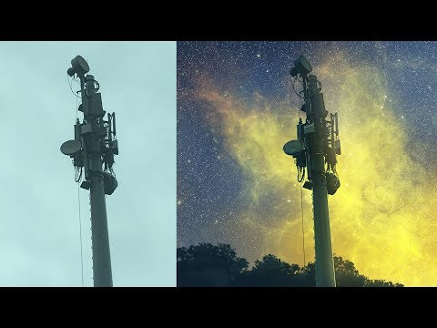Photoshop Starry Tower