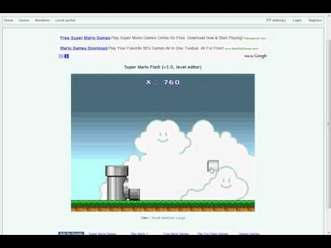 how to make your own mario flash game!
