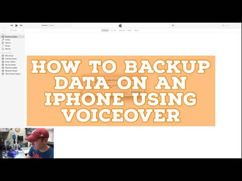How to Backup Data on an iPhone without Touch using Voiceover to Trust Computer