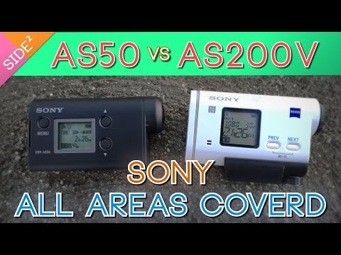 Sony HDR-AS50 vs HDR-AS200V : All Aspects Comparison