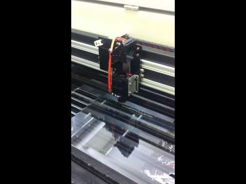 LCG-280D quickly cutting 2mm and 3mm Acrylic