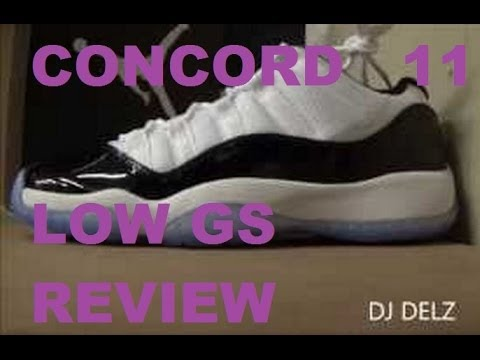 2014 Air Jordan 11 Concord Low XI GS Sneaker Review W/ @DjDelz Dj Delz