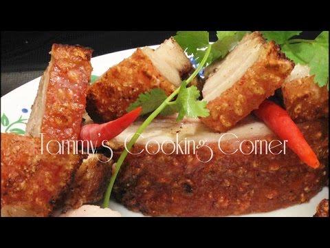 CRISPY ROAST PORK  - Thit Heo Quay - Chinese Roast Pork Recipe 脆皮燒肉