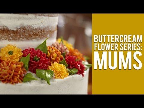Buttercream Flower Series: How to Make Mums