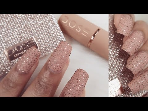 EASY GLITTER NAIL TUTORIAL- ONLY USING A TOOTHPICK