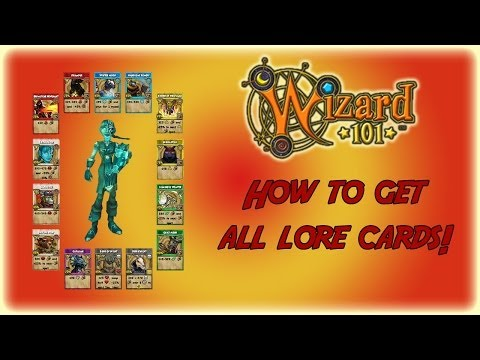 Wizard101: How to get all Lore Cards!!! [New 2014]