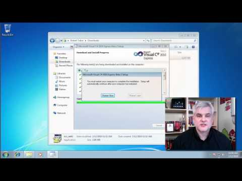 Visual C# 2010 Express Edition Installation on Windows 7