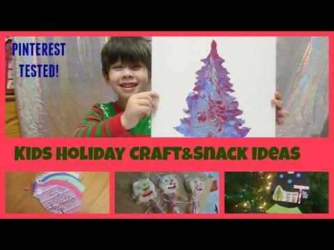 Kids Holiday Crafts, snacks & Activities Preschool Christmas Ideas | Pinterest Tested VLOGMAS 13