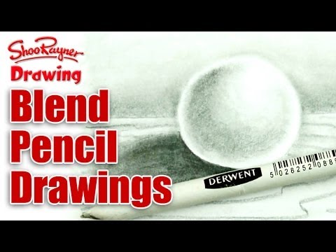 Blend pencil drawings with a stump for smooth photographic effects