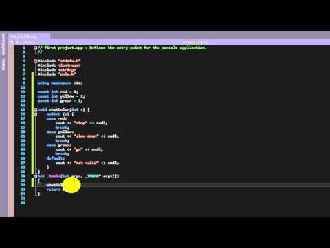 Beginner C++ tutorial 37 (enums)