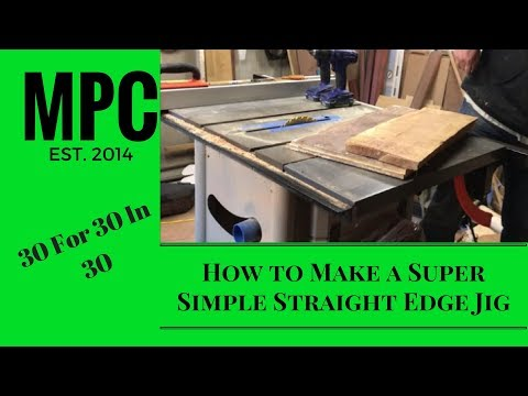 How to Make a Super Simple Straight Edge Jig
