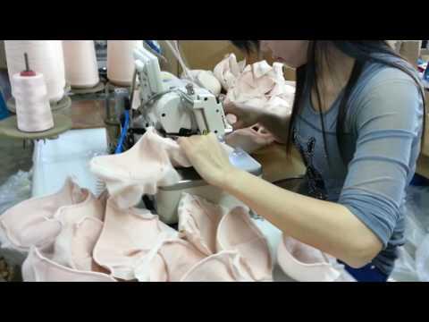 bra sewing --------HIKARI computerized overlock machine