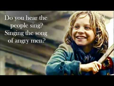 Les Miserables - Gavroche's parts (Two songs - lyrics on screen)
