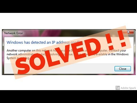 Fix Windows has detected an IP address conflict Error In windows 7/8/10