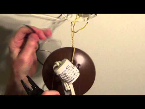 How to Install a Ceiling Light - Ceiling Light Wiring - Conduit