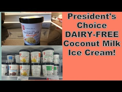 **New** President's Choice Dairy-free Coconut Milk Ice Cream!! (Mango flavour)