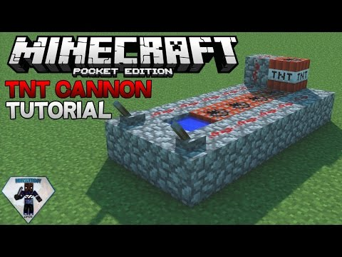 Redstone TNT Cannon Tutorial | Minecraft Pocket Edition
