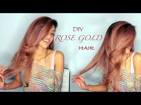 DIY Rose Gold Hair - Tutorial | ARIBA PERVAIZ