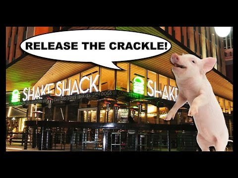 A Shake Shack Burger with PORK RINDS ON IT?! - Food Feeder
