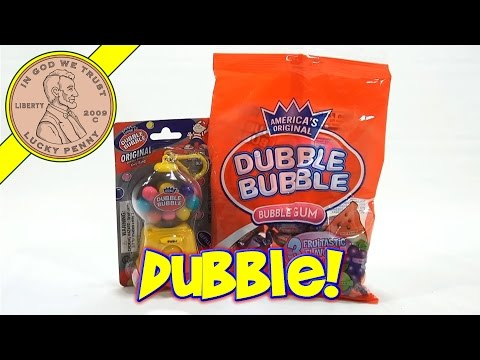 Dubble Bubble Mini Clip On Gumball Dispenser and 3 Fruitastic Flavors
