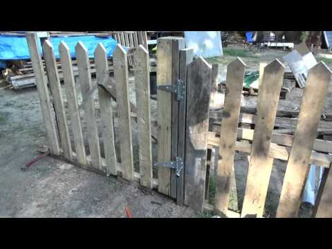 Making A Pallet Wood Picket Fence Gate