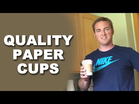 Paper Coffee Cups Review - 12oz Coffee Cups, Lids & Sleeves High Quality