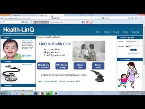 Upload Child's Medical Records Demo in Health-LinQ