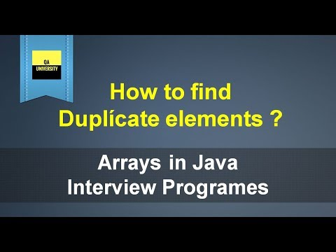 How to find duplicate elements in Array