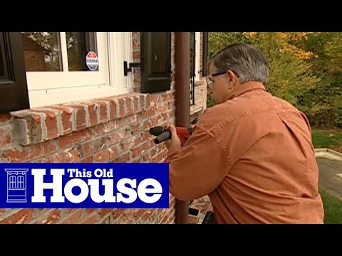 How to Attach Window Boxes to Brick Siding - This Old House