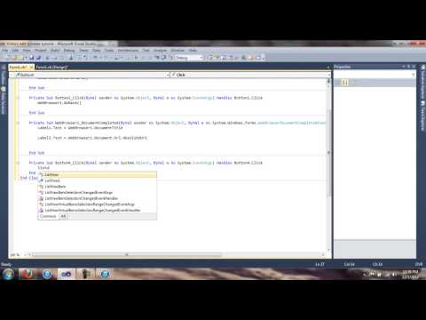 Web Browser history tutorial - Visual Basic 2010