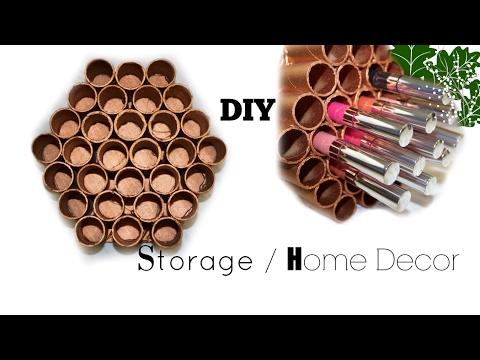 DIY |Copper Honey comb Makeup Organizer | Home Decor | Made with Aluminum roll