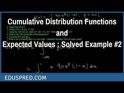 Cumulative Distribution Functions and Expected Values : Solved Example #2