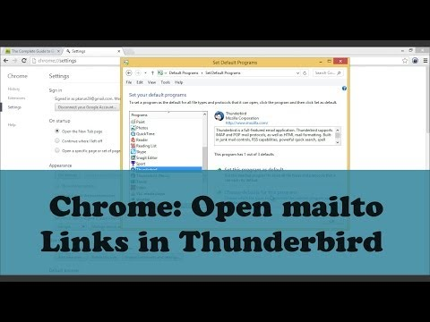 Google Chrome: Open Mailto (email) Links in Thunderbird Application