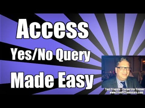 How to make an Access query using yes no fields - Access 2010 Tutorial Access 2013 Access 2007 2016