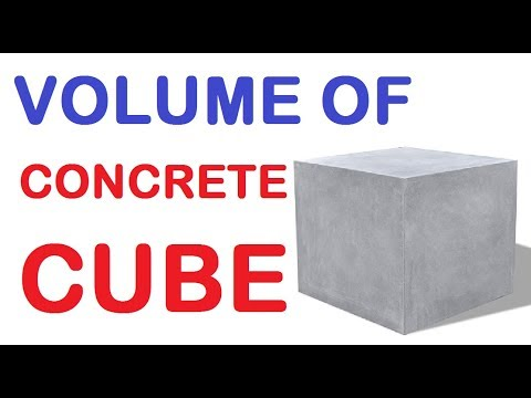 How To Calculate Concrete Cube Volume In Cubic Meter
