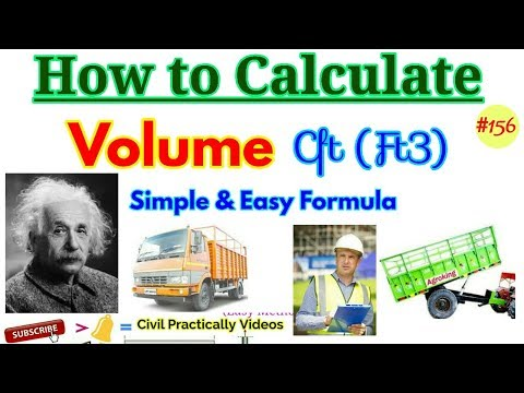 Formula of Calculation of Cubic Feet || How to calculate volume in Cubic Feet || Easy Feet [Hindi/Ur