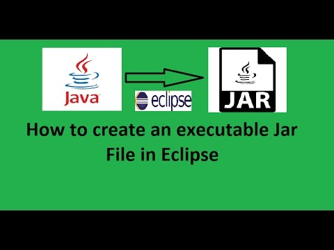 How to create an Executable Jar File in Eclipse IDE