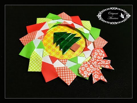Origami Maniacs 285: Christmas Wreath