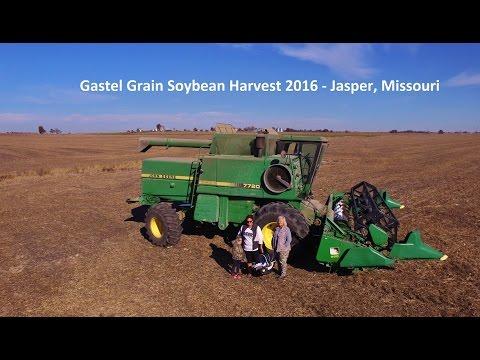 Women in Agriculture - Gastel Grain Soybean Harvest John Deere 7720 Titan 2 Combine - DJI Phantom 3