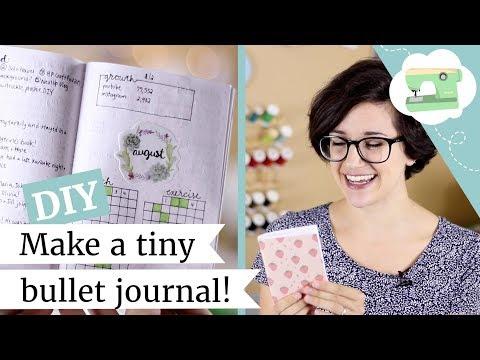 Make a Tiny Bullet Journal - DIY Traveler's Notebook Passport Refill | @laurenfairwx