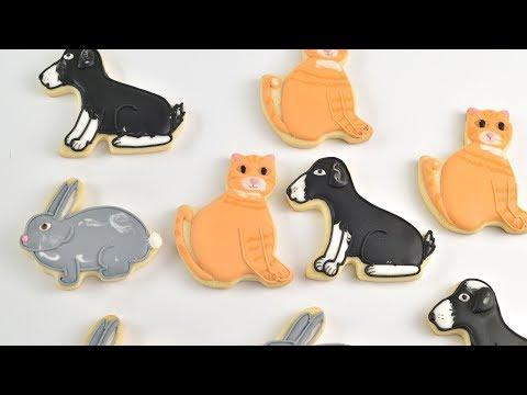 CUTE CAT~DOG~BUNNY FARM ANIMAL COOKIES by HANIELA'S