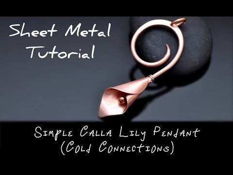 Sheet Metal Tutorial EASY COLD CONNECTION CALLA LILY